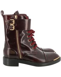 Louis Vuitton Leather Boots - Brown