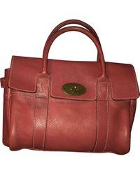 Mulberry Bayswater Pink Leather Handbag