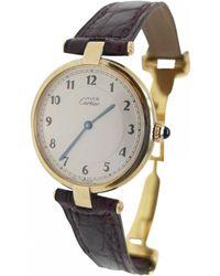 Cartier Montres Must Vendôme en Vermeil Beige - Neutre