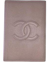 Chanel Beige Leather Purses Wallet & Case - Natural