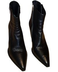 The Kooples Leather Ankle Boots - Black