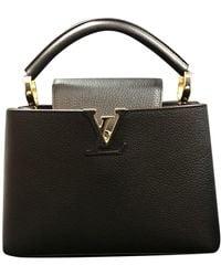 Louis Vuitton Capucines Leder Handtaschen - Schwarz