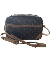 Louis Vuitton Trocadéro Leinen Handtaschen - Braun