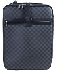 Louis Vuitton Leinen Reise Tasche - Blau
