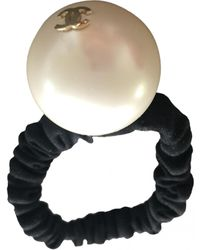 Chanel Accesorio para la cabeza con Perla - Blanco