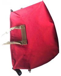 Lancel Cloth Travel Bag - Red