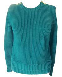 Michael Kors Turquoise Cotton Knitwear - Blue