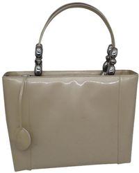 Dior Lady Perla Lackleder Handtaschen - Natur