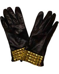 Michael Kors Black Leather Gloves