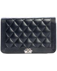 Chanel Sac à main Wallet on Chain en cuir - Bleu