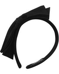 Chanel Accesorios para la cabeza en seda negro