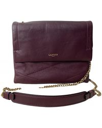Lanvin Sugar Leather Crossbody Bag - Purple
