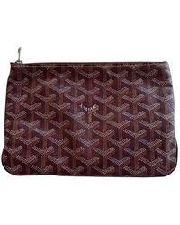 Goyard Cloth Clutch Bag - Purple