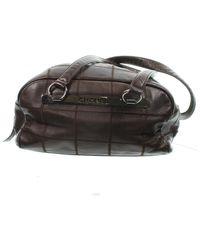 Chanel East West Chocolate Bar Leather Handbag - Brown