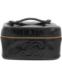 Chanel Patent Leather Travel Bag - Black
