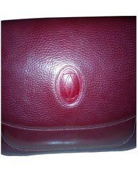 Cartier C Leather Crossbody Bag - Purple