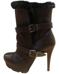 By Malene Birger Leather Snow Boots - Black