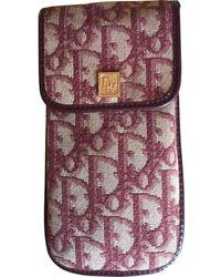 Dior Burgundy Cloth Purses Wallet & Case - Purple