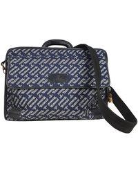 Vivienne Westwood Leinen Business tasche - Blau