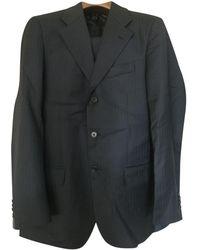 Ferragamo Navy Wool Suits - Multicolor