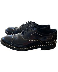 Zadig & Voltaire Patent Leather Lace Ups - Black