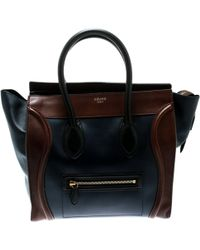 Céline - Nano Luggage Leather Tote - Lyst