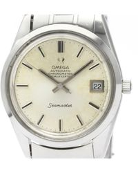Omega Seamaster Silver Steel Watch - Metallic