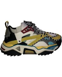 CALVIN KLEIN 205W39NYC Strike 205 Leather & Mesh Trainers - Multicolour