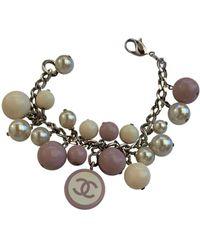 Chanel Bracelets CC en Argent Blanc