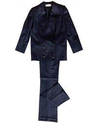 Dior Wool Suit Jacket - Blue