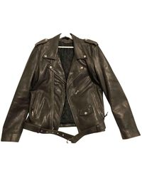 BLK DNM Leather Jacket - Green