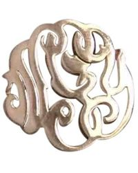 Ginette NY - Monograms Gold Pink Gold Ring - Lyst
