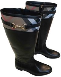 Burberry - Leather Boots - Lyst