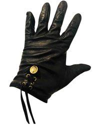 Dior Leder Handschuhe - Schwarz