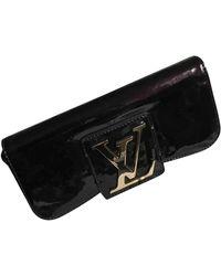 Louis Vuitton Sobe Patent Leather Clutch Bag - Black