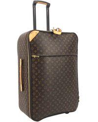 Louis Vuitton Pegase Cloth Travel Bag - Brown