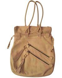 Ferragamo Kalbsleder In Pony-optik Handtaschen - Natur
