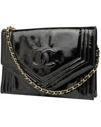 Chanel - Black Patent Leather - Lyst