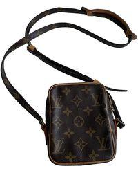 Louis Vuitton Vintage Danube Brown Cloth Bag