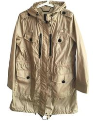 Michael Kors Beige Synthetic Trench Coat - Natural