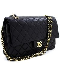 Chanel 2.55 Black Leather Handbag