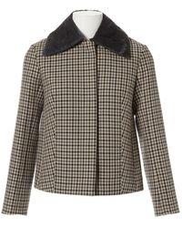 Nina Ricci Wool Coat - Natural