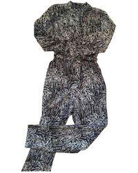 Vanessa Seward Black Silk Jumpsuits