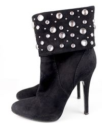 Balmain Boots en Suede Noir - Multicolore
