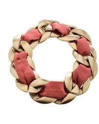 Chanel \n Pink Metal Bracelet