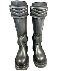 Bottega Veneta Black Leather Boots