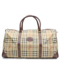 Burberry Ecru Cloth Travel Bag - Multicolour