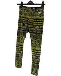 Nike Hose Baumwolle Bunt - Grün
