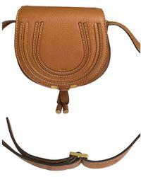 Chloé Tasche Marcie Small aus Leder - Braun
