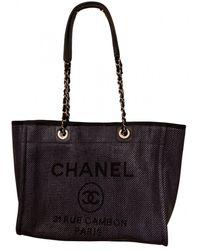 Chanel Borsa Grand shopping in Pelle - Nero